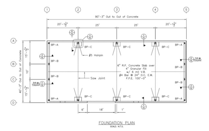 Foundation design project gallery qe engineering for Pre engineered house plans
