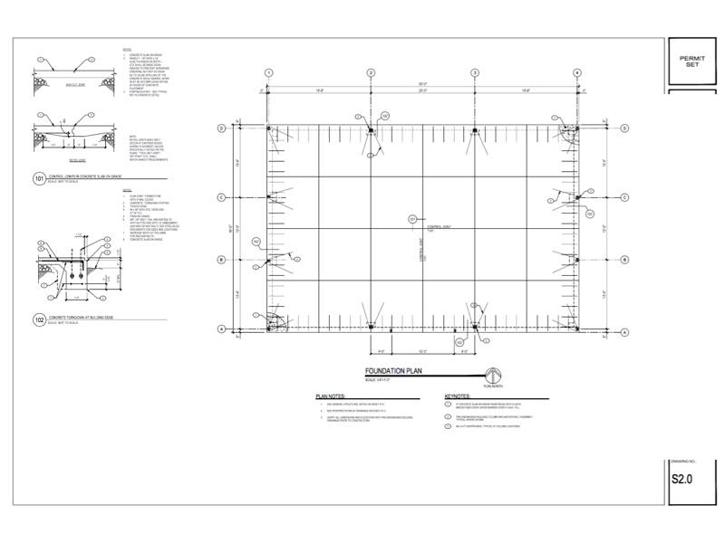 40 60 Metal Building Foundation Plan Qe Engineering